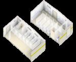6.0 x 3.0 MF Ablution Blocks Isometric